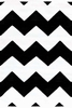 Chevron Indoor/Outdoor Rug in Black and White
