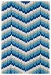 Chevron Indoor/Outdoor Rug in Blue