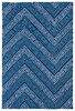 Chevron Matira Rug in Blue