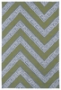 Chevron Matira Rug in Grey