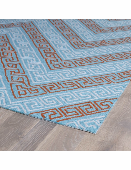 Chevron Matira Rug in Light Blue