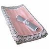Chevron Pink Changing Pad Cover