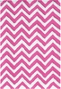 Chevron Pink Indoor/Outdoor Rug
