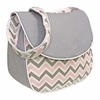 Chevron Pink Messenger Diaper Bag