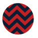 Chevron Red and Navy $(+99.00)