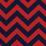 Chevron Red and Navy - Print Fabricic