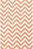 Chevron Tangerine Indoor/Outdoor Rug