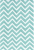 Chevron Teal Indoor/Outdoor Rug