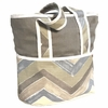 Chevron Blue Tote Diaper Bag