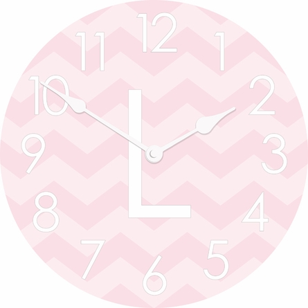Horizontal Chevron Wall Clock