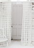 Chichi White Solid Petal Window Curtain