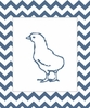 Chick on Chevron Canvas Reproduction