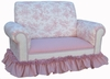 Child Club Loveseat - Toile Pink
