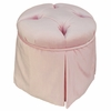 Child Park Avenue Round Ottoman - Aspen Pink