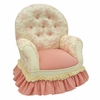 Child Queen Anne Chair - Toile Pink
