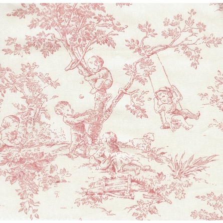 Child Queen Anne Chaise Lounge - Toile Pink