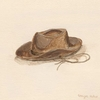 Child's Cowboy Hat Canvas Wall Art