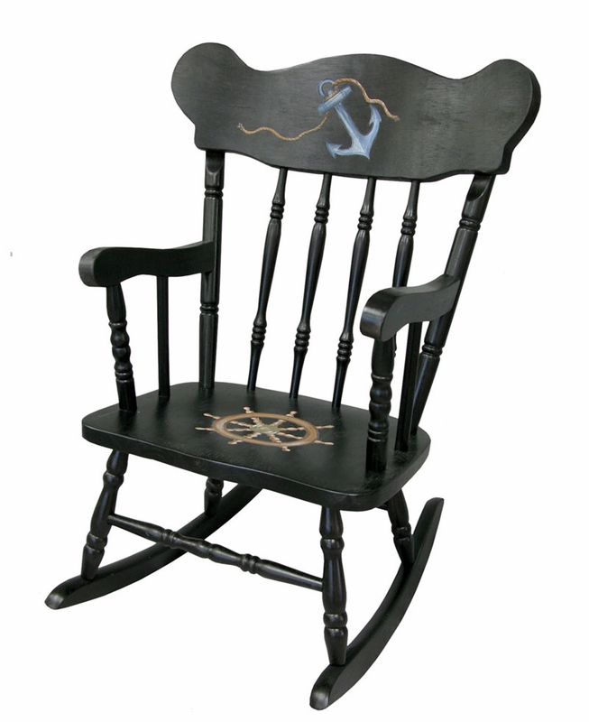 Child s Rocking Chair with Nautical Motif by Art For Kids