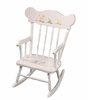 Child's Rocking Chair with Nursery Animals Motif in Gingham