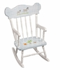 Child's Rocking Chair with Safari Motif in Gingham
