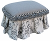 Child Toybox Ottoman - Toile Black
