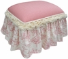 Child Toybox Ottoman - Toile Pink