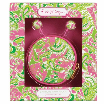 Lilly Pulitzer Chin Chin Ear Buds with Pouch
