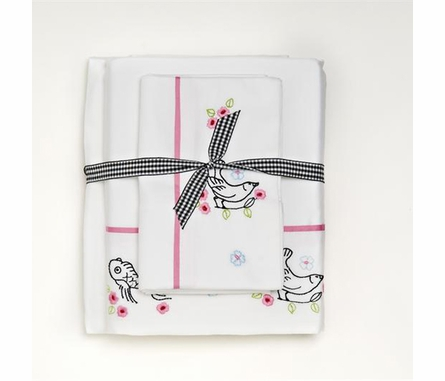 China Doll Sheet Set - Embroidery Top