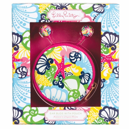 Lilly Pulitzer Chiquita Bonita Ear Buds with Pouch