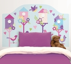 Chirping The Day Away Twin Headboard Wall Decal