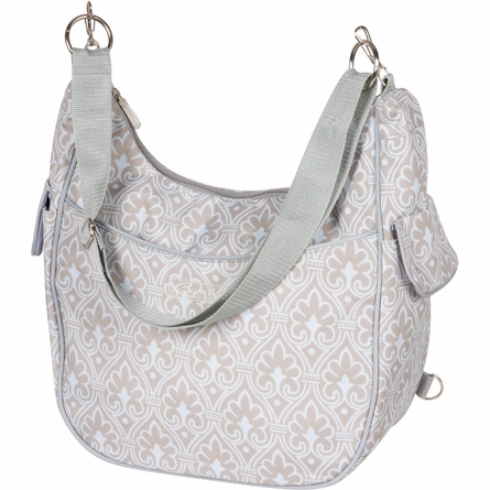 Chloe Convertible Diaper Bag in Blue Filigree