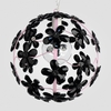 Chloe Gloss Pink Black Crystal Flower Chandelier