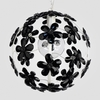 Chloe Matte White Black Crystal Flower Chandelier