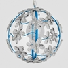 Chloe Neon Blue Clear Crystal Flower Chandelier