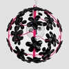 Chloe Neon Fuchsia Black Crystal Flower Chandelier