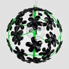 Chloe Neon Green Black Crystal Flower Chandelier