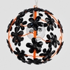 Chloe Neon Orange Black Crystal Flower Chandelier
