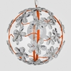 Chloe Neon Orange Clear Crystal Flower Chandelier