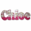 Chloe Pink Owls Hand Painted Wall Letters