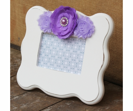 Chloe White Scalloped Picture Frame