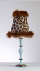 Chocolate and Blue Giraffe Lamp