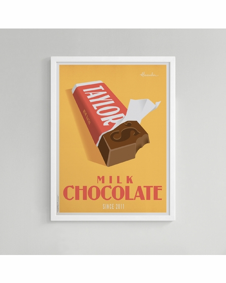 Chocolate Bar Custom Framed Art Print