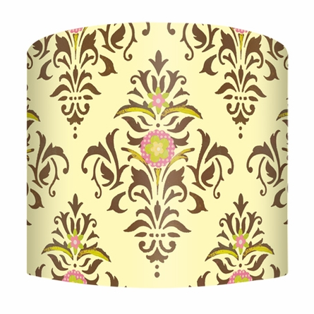 Chocolate & Cream Damask Lamp