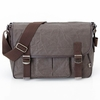 Chocolate Crushed Waxed Canvas Messenger Diaper Bag