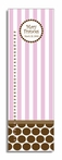 Chocolate Dot & Pink Stripe Personalized Growth Chart