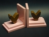 Chocolate Heart Bookends with Pink Base