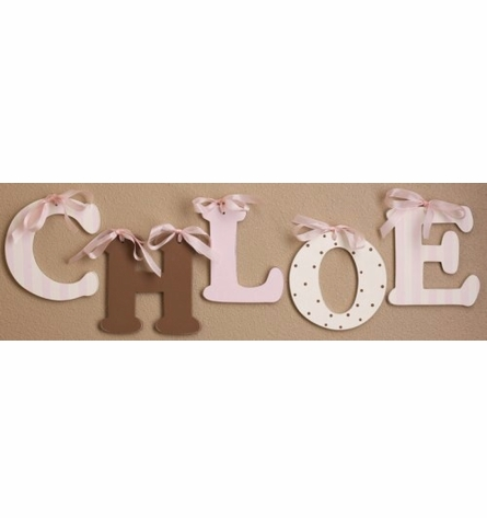 Chocolate Polka Dot Wooden Mix & Match Wall Letter