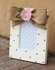 Chocolate Simple Dot Flower Picture Frame