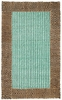 Chocolate Turquoise Diamond Braided Border Rug