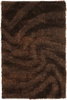 Chocolate Waves Shag Fola Rug
